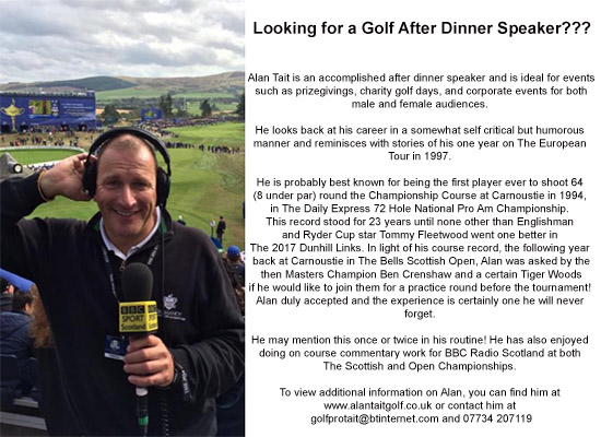 Looking for a Golf After Dinner Speaker?????